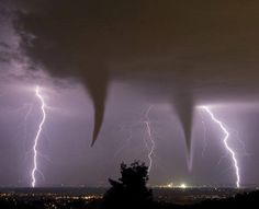 Except when they kill...  Lightening and tornado from the 6-1-13 storms that ravaged Oklahoma.