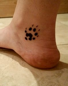 My ferret foot print tattoo. (Left, lower inner ankle.