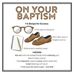 Baptism Card - Recipe for Success - NWT, Brothers, , Baptism JW Greetings Card by HappySheepCards on Etsy