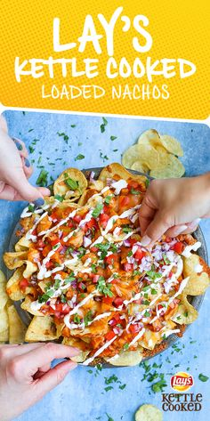 BBQ Chicken Nachos Sponsored by Frito-Lay Tostadas, Tacos, Quesadillas, Empanadas, Burritos, Enchiladas, Bbq Chicken Nachos, Great Recipes, Favorite Recipes