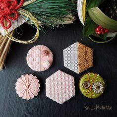 Japanese Wagashi, Japanese Sweets, Japanese Art, Fun Cookies, Sugar Cookies, Royal Icing Cookies, Holiday Treats, Cookie Decorating, Creative