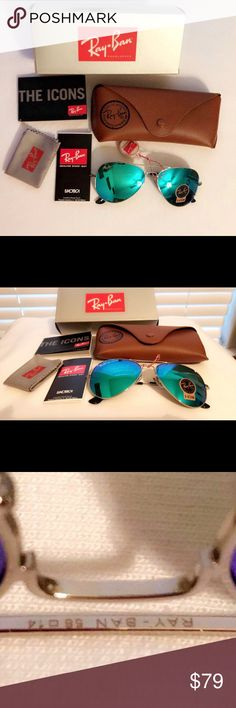 Aviator Sunglasses Fashion aviator sunglasses. Ray-ban 3025 Polarized.  Lens height : 40mm Lens width: 52mm UV: UV400  Frame Color: Silver Lenses Color: Sky blue  INCLUDED: -Sunglasses R-b 3025 Polarized -Sunglasses Bag -Sunglasses Case -Sunglasses  Box -Ray-ban Manual Book                                                        -Clean cloth  Open to offers Ray-Ban Accessories Sunglasses
