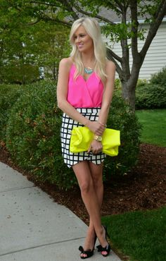 love love this skirt and color combo