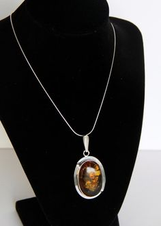 Statement Baltic Amber Artisan Sterling Silver by MayberryGraphics