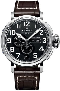 Men watches Zenith Pilot Montre d Aeronef Zenith Type 20 Annual Calendar Mens Watch 03.2430.4054-21.C721