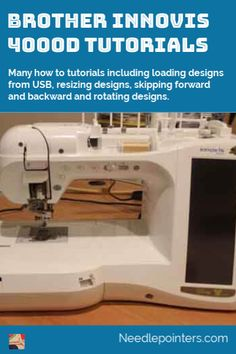 Learn how to use an Innovis including loading designs from USB, resizing designs, skipping forward and backward and rotating designs. Brother Embroidery Machine, Machine Embroidery Projects, Learn Embroidery, The Machine Stops, T Shirt Tutorial, A Brother, Types Of Craft, Diy Mask, Design Files