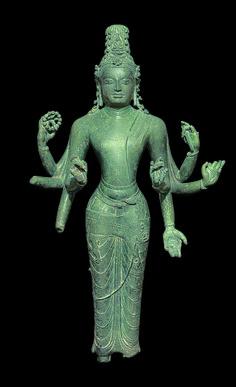 Bodhisattva Avalokiteshvara Amoghapasha (late century), Western Indonesia, copper alloy, H. Hindu Deities, Hinduism, Amitabha Buddha, Arte Tribal, Indonesian Art, Tibetan Art, Buddha Art, Guanyin, Hindu Art
