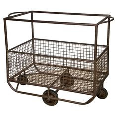 French Metal Cart   1stdibs.com