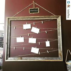 What a great idea! I would love to do something like this as a craft project at home for prayer requests.