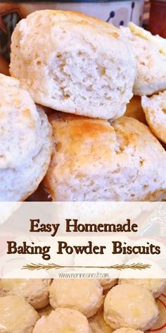 Low Unwanted Fat Cooking For Weightloss Easy Homemade Baking Powder Biscuits Are Ultra Fluffy, Tender, And Tasty.They're Super Easy To Make Best Biscuits Ever Homemade Baking Powder, Baking Powder Recipe, Baking Powder Biscuits, Buttermilk Biscuits, Buttery Biscuits, Drop Biscuits, Snack Recipes, Cooking Recipes, Bread Recipes