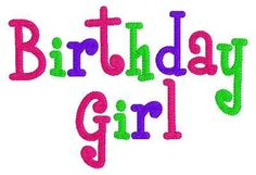 INSTANT DOWNLOAD Birthday Girl Machine Embroidery Design on Etsy, $4.00