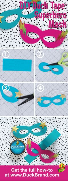 How to Make a DIY Superhero Mask with Duck Tape for Halloween.