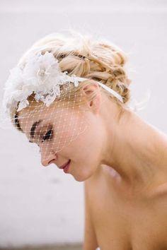 Cara Hair Ribbon by Sara Gabriel available at Aubre's Bridal #blusher #veil #floral #bridal #headpiece #floralcrown