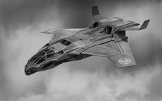 The_Avengers concept art. Quinjet by Phil Saunders