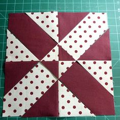 """""""Disappearing 4 patch - with a twist"""" tutorial by Janet of What Comes Next. *Note - there are measurements at the bottom of the post that show how to calculate your finished size."""