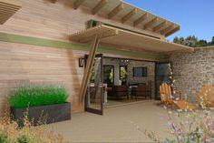 Contemporary Style House Plan - 1 Beds 1.00 Baths 480 Sq/Ft Plan #484-6 Exterior - Covered Porch - Houseplans.com