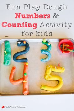 Playdough numbers and counting activity