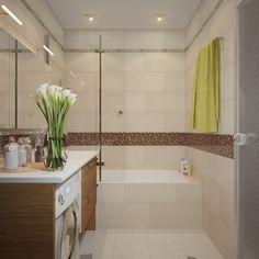A kis méretű panel- és lakótelepi fürdőszobákban gyakran kapnak helyet a mosógépek, de egy mosdóval egybeépített szekrényben ezt is dekoratívan elrejthetjük.