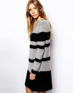 2nd Day Marais Stripe Knitted Dress