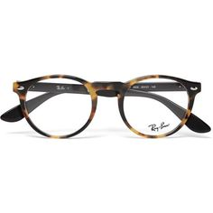 f1124ef97e Ray-Ban Round-Frame Tortoiseshell Acetate Optical Glasses ❤ liked on Polyvore  featuring mens