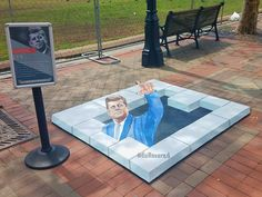 chalk artist and Professsional street painting Picnic Blanket, Outdoor Blanket, Chalk Artist, Street Painting, Sidewalk Chalk, Street Artists, Murals, Digital Prints, 3d