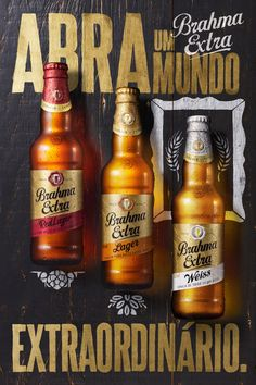 Brahma Extra on Behance Creative Advertising, Print Advertising, Advertising Campaign, Banner Digital, Digital Art, Desing Inspiration, Beer Poster, Beer Packaging, Packaging Design