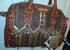Nicole Lee Tatiana Chain Fringe Boston Bag #forsale #ebay #BostonBag #speedy #Satchel #luxuryhandbags @NicoleLeeHandbags