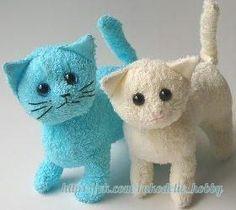 Мягкие игрушки-котята из полотенца / Слабый пол!
