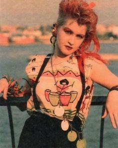80s Glam-Punk Cyndi Lauper, 70s Fashion, Trendy Fashion, 80s Fashion Icons, Fashion Idol, Fashion Stores, Party Fashion, Style Fashion, Vintage Fashion