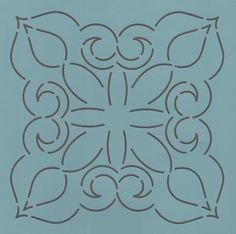 """Temple Block 7"""" - The Stencil Company"""