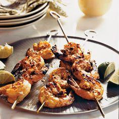 Grilled Sour Cream-Marinated Shrimp | Food & Wine
