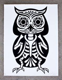 These cute animal screen prints, inspired by Day of the Dead are a collaborative project between Ernesto Yerena and Phil Lumbang. Prints can be purchased individually for $45 each from here.