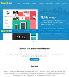 This landing page WordPress theme includes a color picker for unlimited colors, a flat design, a one page layout, WooCommerce support, portfolio management, lots of shortcodes, WPML compatibility, a featured image slider, 300 customizable icons, and more.