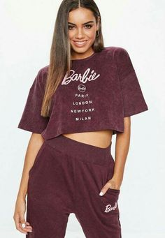 efe6c4229002 Barbie X Missguided Burgundy Acid Wash T-Shirt  18. Save today!! Missguided
