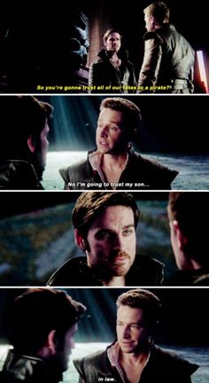 """""""No, I'm going to trust my son... in-law"""" - David and Killian #OnceUponATime"""