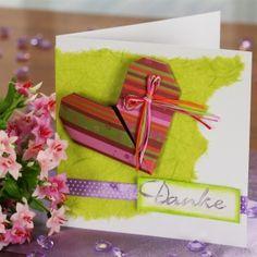 #Muttertagskarte basteln: Idee mit Herz basteln! Eine wunderschöne selbstgebastelte Karte! Eine Idee die von Herzen kommt! Anleitung mit ▶Bastelvideo! ✓http://www.trendmarkt24.de/bastelideen.idee-mit-herz-basteln.html#p