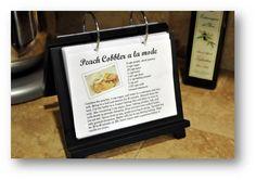 Finding My Aloha: DIY classy cookbook.great idea for family recipe book as gift Flip Recipe, Flip Photo, Cookbook Recipes, Cookbook Ideas, Cookbook Design, Cookbook Display, Homemade Cookbook, Cookbook Storage, Recipe Holder