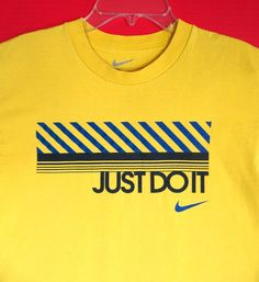 Nike Youth M 10 12 Yellow Tee T-Shirt Shirt Caution Danger Warning Swoosh #Nike #Everyday