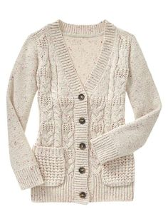 Mixed-stich cardigan Product Image