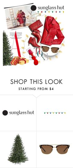 """Celebrate in Every Shade with Sunglass Hut: Contest Entry"" by clotheshawg ❤ liked on Polyvore featuring Sterling, Burberry and L'Oréal Paris"