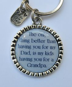 Grandpa Keychain, Father's Day Gift for Dad, The Only Thing Better Quote Key Chain Fathers Day Crafts, Happy Fathers Day, Grandpa Gifts, Gifts For Dad, My Dad, Mom And Dad, Father's Day Celebration, Daddy Day, Homemade Christmas Gifts