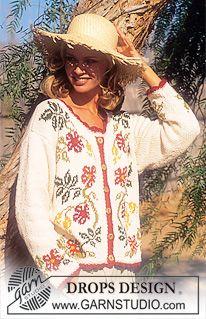 DROPS Vest van Paris met bloemenpatroon. Maat S – L. ~ DROPS Design