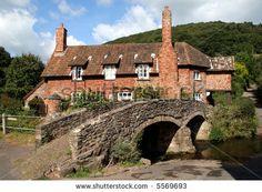quaint villages | Quaint English Village Cottage next to an Historic Packhorse Bridge ...