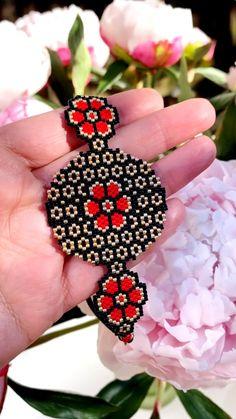 Bead Embroidery Jewelry For You or Someone You Love by SplendidBeadsBklyn Peyote Stitch Patterns, Beaded Bracelet Patterns, Beading Patterns, Beaded Earrings, Jewelry Patterns, Beaded Bracelets, Seed Bead Jewelry, Loom Bracelets, Necklaces