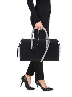 Sivo-čierna kabelka Clarks Milang Chic