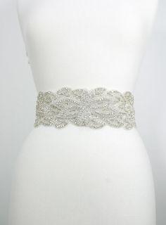 jeweled wedding sash