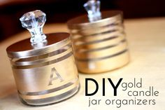 Love this DIY for old candle jars. I have tons of B&BW's candles that are almost empty. I'm trying this out soon!