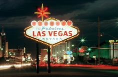 The infamous sign welcoming motorists to Las Vegas, Nevada at the south end of the Las Vegas Strip is photographed on November 13, 1997. ETHAN MILLER / LAS VEGAS SUN -- CASINOS ONLY