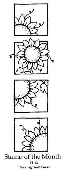 Peeking Sunflower