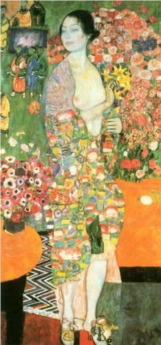 The Dancer, Gustav Klimt, 1916-18 https://www.artexperiencenyc.com/social_login/?utm_source=pinterest_medium=pins_content=pinterest_pins_campaign=pinterest_initial